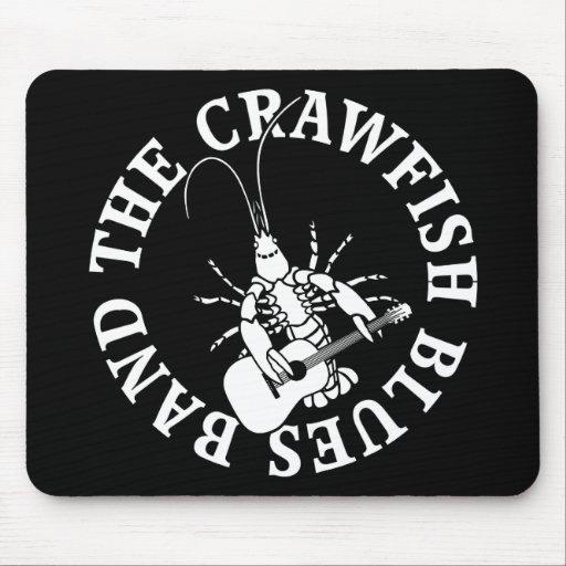 Crawfish Blues Band (white) Mouse Pad