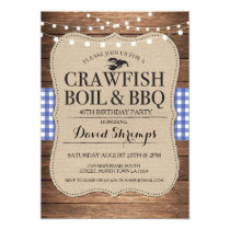 Crawfish Boil BBQ Any Age Birthday Party Lobster Invitation