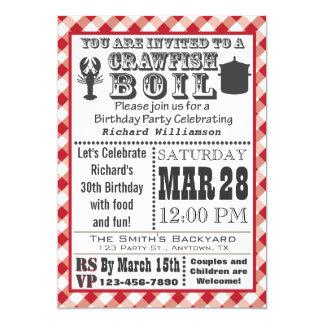 Crawfish Boil Birthday Party Invitation