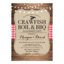 Crawfish Boil Engagement Party Shower Lobster Invitation