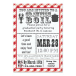 Crawfish Boil Graduation Party Invitation