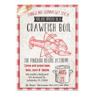 graphic about Crawfish Boil Invitations Free Printable known as Crawfish Boil Invites Zazzle