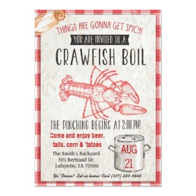 Crawfish Boil With The Crawfish King Invitation Zazzle Com