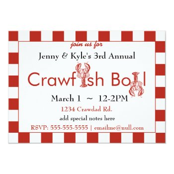 Crawfish Boil Invitations by HolidayBug at Zazzle