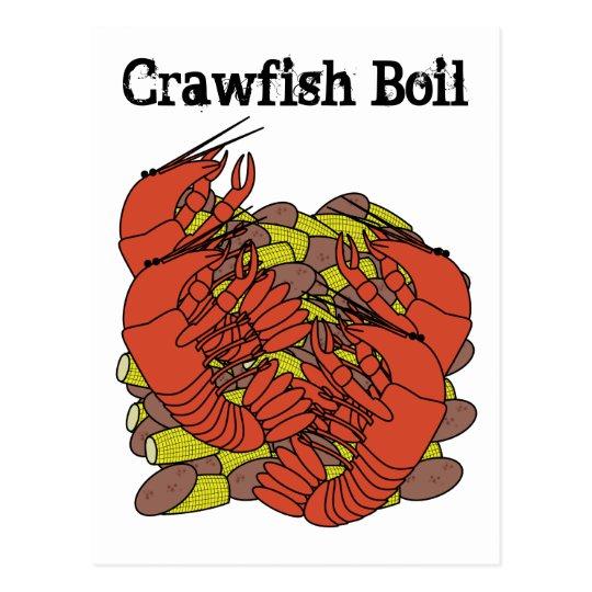 Crawfish Boil Invitations Postcard