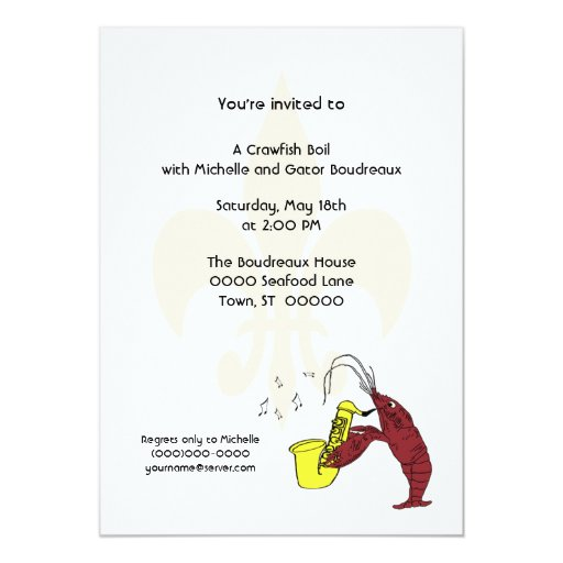 Crawfish Boil Party Invitation | Zazzle