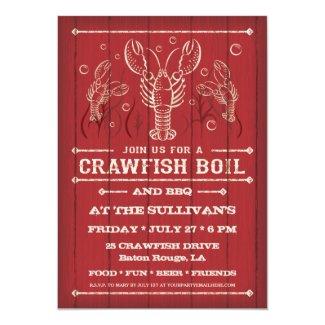 "Crawfish Boil Party Invitation 5"" X 7"" Invitation Card"