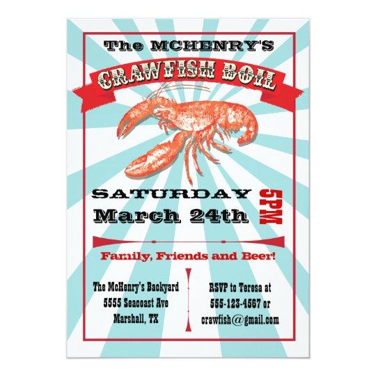 Crawfish Boil Party Poster Invitations Zazzle Com