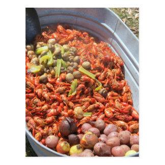 Crawfish boil. postcard