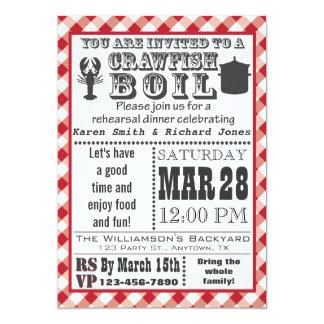 Crawfish Boil Rehearsal Dinner Party Invitation