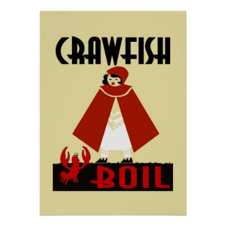 Crawfish Boil Riding Hood Poster