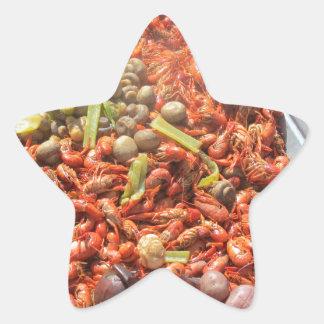Crawfish boil. star sticker