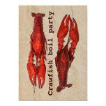 "crawfish boil summer party invitation template 5"" x 7"" invitation card"