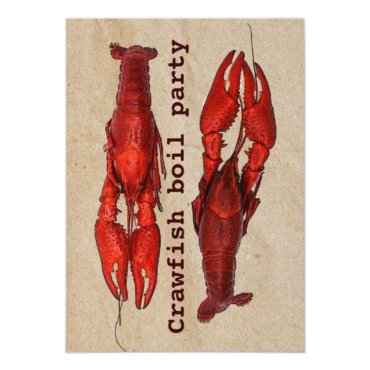 crawfish boil summer party invitation template zazzle com