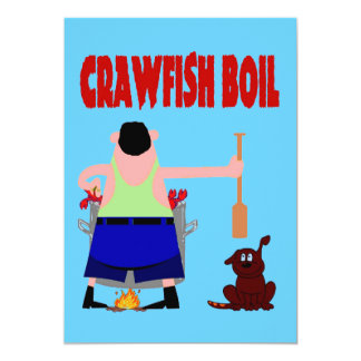 Crawfish Boil with Dog Card