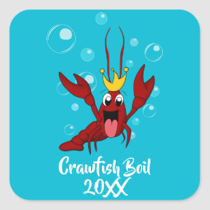 0f4d1fdf Crawfish Boil with the Crawfish King Square Sticker