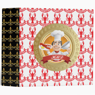 Crawfish Chef Recipe Binder - SRF