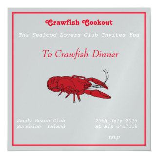 Crawfish Cookout Magnetic Invitations