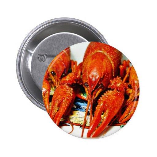 Crawfish Crawdads Craytfish Pinback Buttons