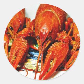 Crawfish Crawdads Craytfish Round Stickers