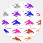 Crawfish (Crayfish) 丸形シールステッカー
