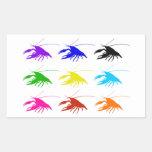 Crawfish (Crayfish) 長方形シール・ステッカー