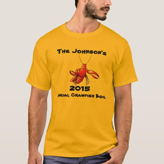 65232e78 Crawfish Crayfish Boil Annual Family Party Custom T-Shirt   Zazzle.com
