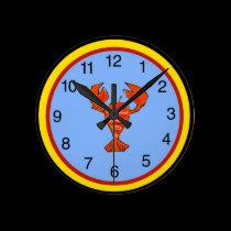 Crawfish, Crayfish, Lobster Clock wall clocks