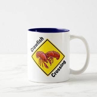 Crawfish Crossing Two-Tone Coffee Mug