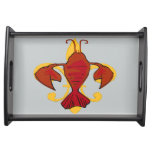 Crawfish  Fleu De Lis Serving Tray