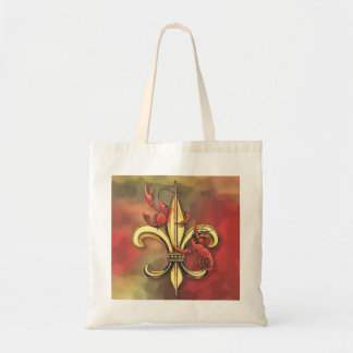 Crawfish Fleur De Lis Budget Tote Bag