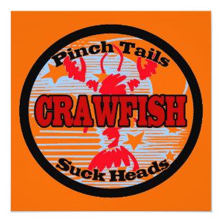 Crawfish Fleur De Lis Card