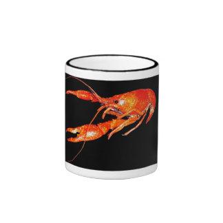 crawfish-fleur-de-lis coffee cup coffee mug
