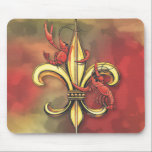 "Crawfish Fleur De Lis Mouse Pad<br><div class=""desc"">Crawfish Fleur De Lis created by Craig Routh</div>"