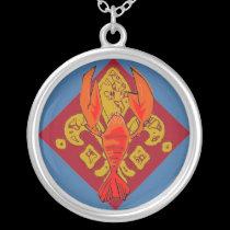 Crawfish Fleur De Lis necklaces