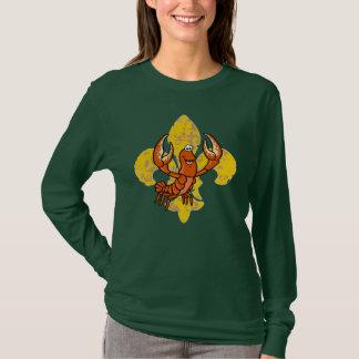 Crawfish Fleur De Lis T-Shirt