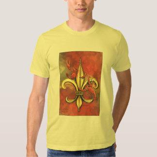 Crawfish Fleur-de-lis T-shirt