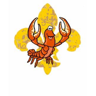Crawfish Fleur De Lis shirt