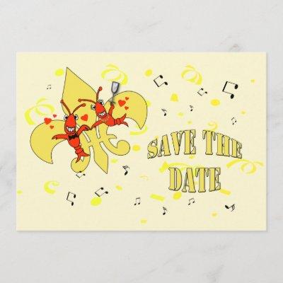 Fleur De Lis Cascade Save The Date Zazzle Com