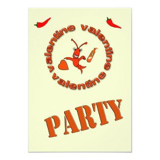Crawfish Hot Sauce Valentine Party Invitation