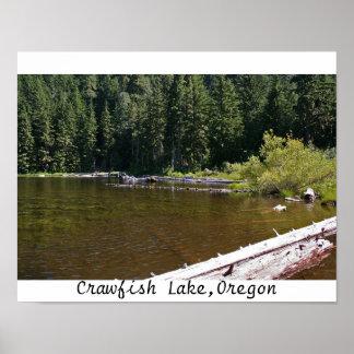 Crawfish Lake, Oregon Posters