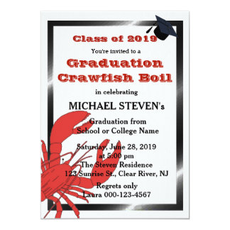 Crawfish/Lobster Boil Graduation Party Invite
