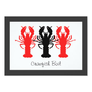 Crawfish / Lobster Boil Party Invitations