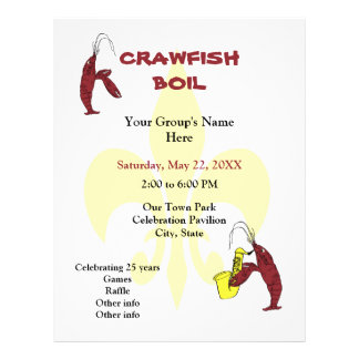 Crawfish / Lobster Fleur de Lis Event Flyer