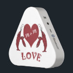 """Crawfish Lobster Heart Bluetooth Speaker<br><div class=""""desc"""">Add your and your sweetheart&#39;s initials to these Bluetooth speakers featuring two crawfish (lobsters) holding a heart shape.</div>"""