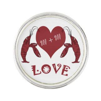 Crawfish Lobster Heart Pin