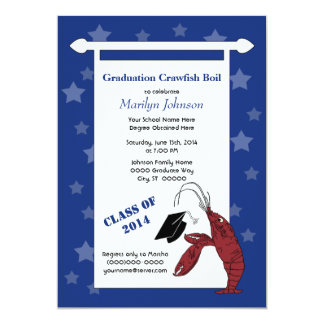 Crawfish / Lobster Stars Graduation Invite