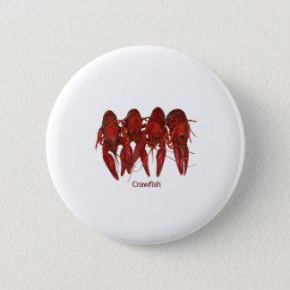 Crawfish Logo Pinback Button