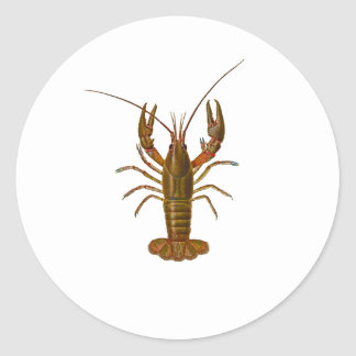 Crawfish Logo Round Stickers