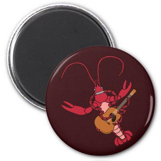 Crawfish Music 2 Inch Round Magnet